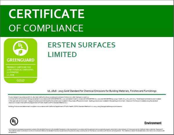 祝贺世腾顺利通过Greenguard检测认证