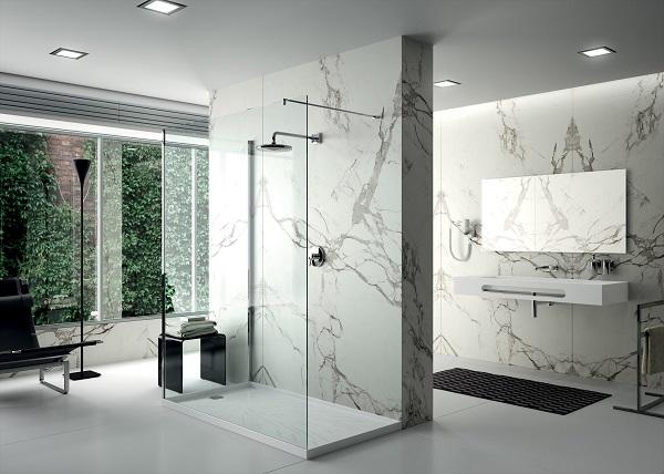浴室岩板背景墙
