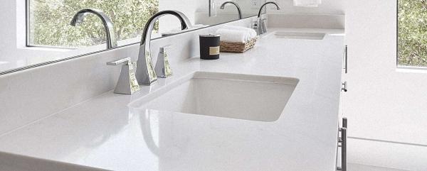浴室石英石台面01